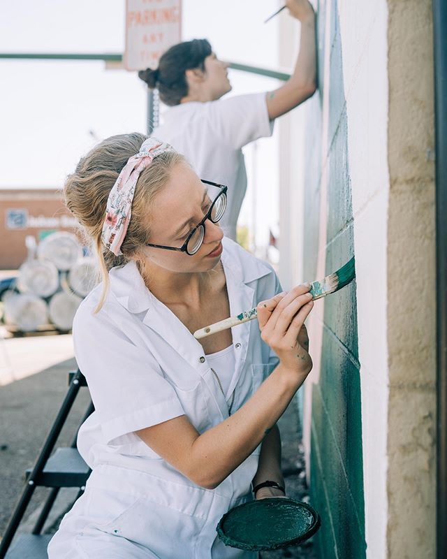 """@madiborden, who I deemed """"the detailer"""" for her careful diligence and ability to hone in on places that needed a little more attention. Couldn't have done it without her joyful spirit, calm presence, and SKILL."""