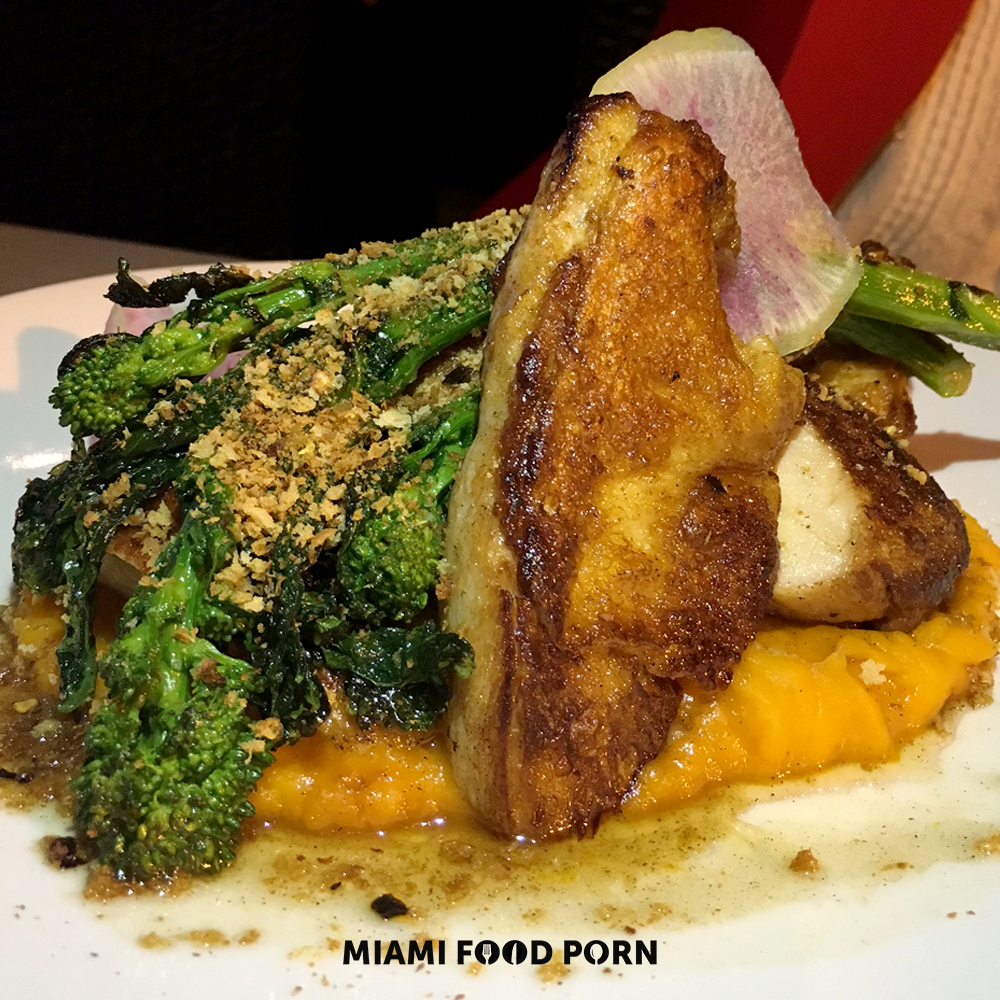 Roasted Half Chicken with Butternut Squash Puree