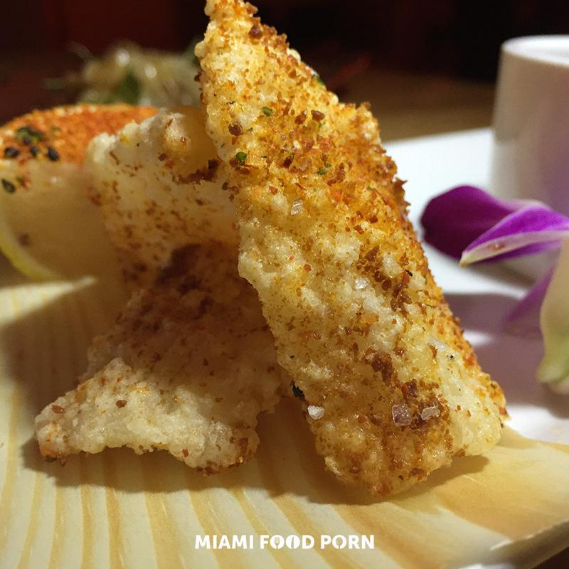 SALT AND PEPPER SQUID dry miso, shichimi, sea salt, crispy garlic, smoked soy