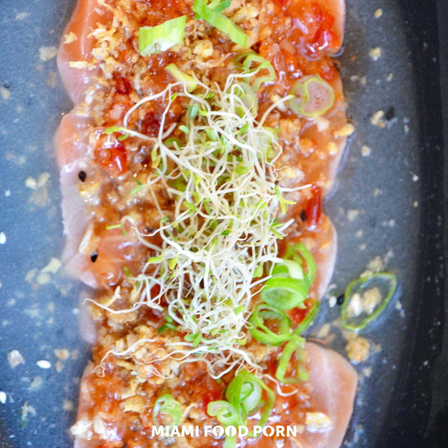wild scottish salmon tiradito