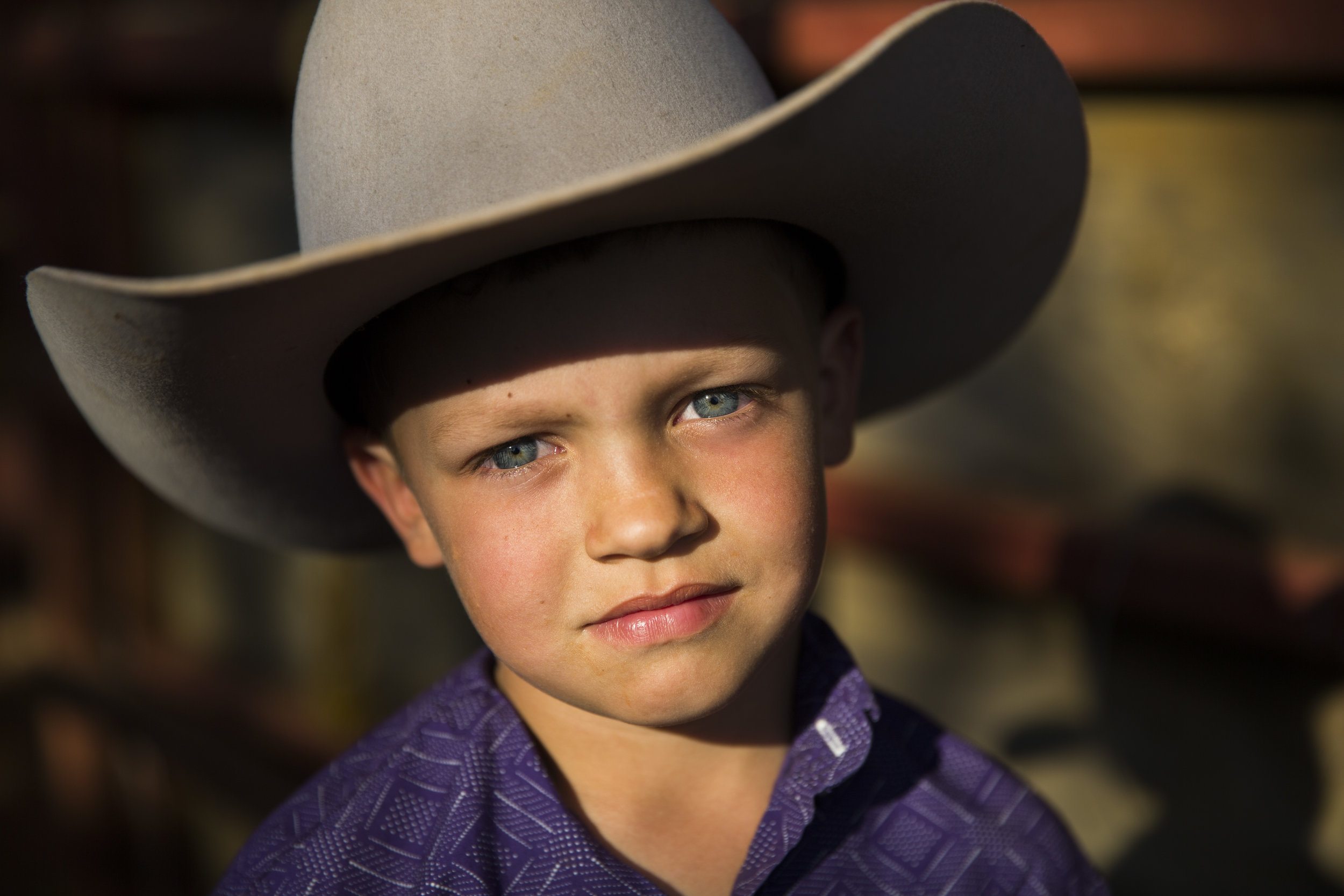 Brace Miller, 6,at the Junior Cypress Memorial Rodeo at the Junior Cypress Rodeo Arena in Clewiston, Fla. on Saturday, March 17, 2018.