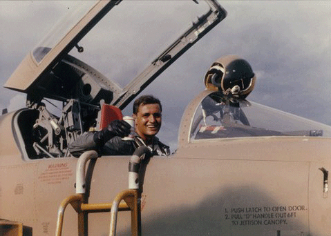 Margot's father in his F5-C.
