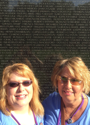 Patty and her sister at The Wall.