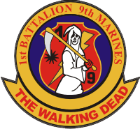 The 1st Battalion 9th Marines was an infantry battalion in Vietnam, where it had the highest casualty rate in Marine Corps history. Ron's father was in this battalion.