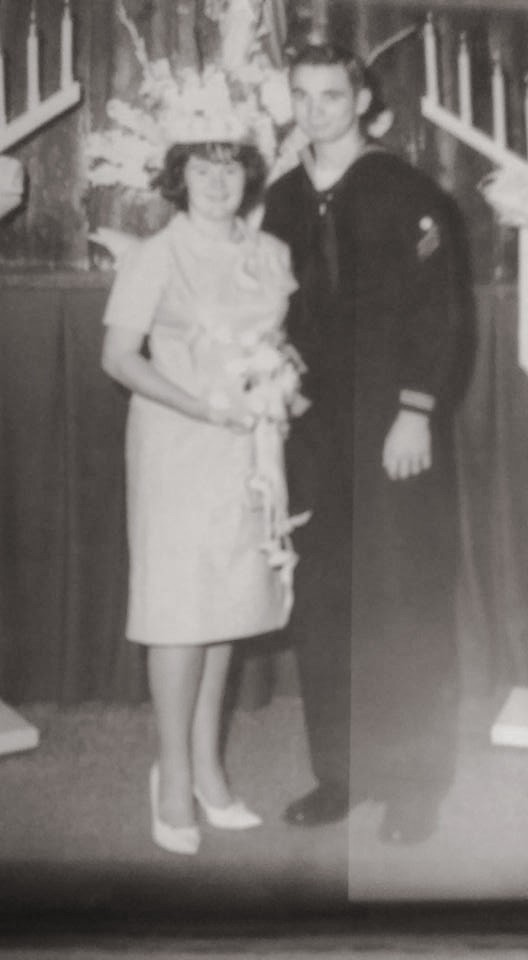 Susan recently found this photo from her parents' wedding. Her father had just joined the Navy. She'll bring this photo with her to share with the Vietnamese sons and daughters.