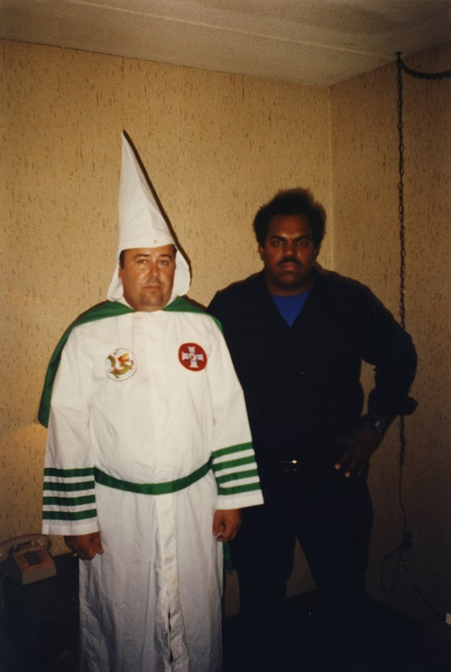 Daryl Davis with Roger, a Grand Dragon, who later left the KKK.