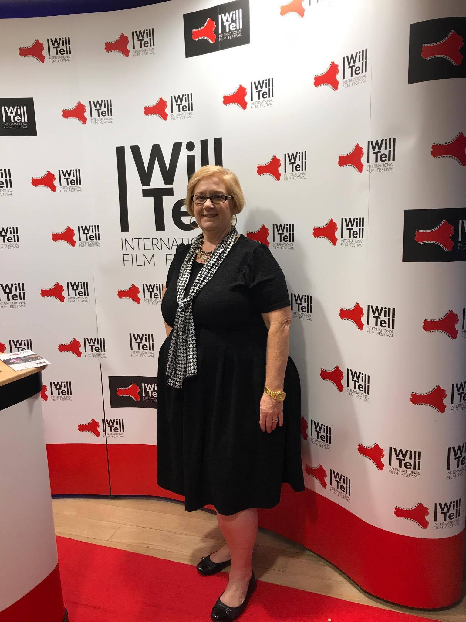 Susan Mitchell-Mattera attends the I Will Tell Film Festival, London.