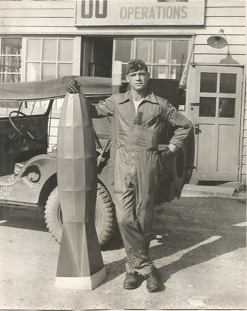 Air Force Captain Robert N. Brumet on base, 1963.