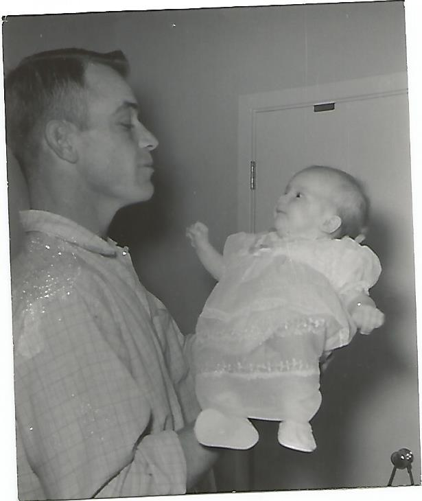 Barbara and her father, 1957