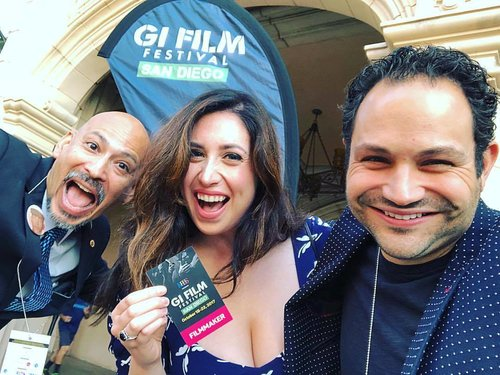 Ron Reyes, Nora and Anthony Istrico at the West Coast premiere