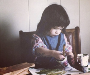 The artist as a child