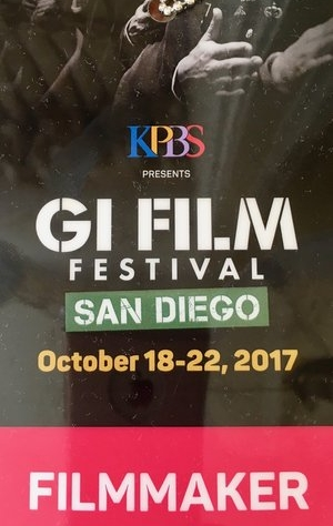 Nora's GI Film Festival badge, an exclusive for filmmakers