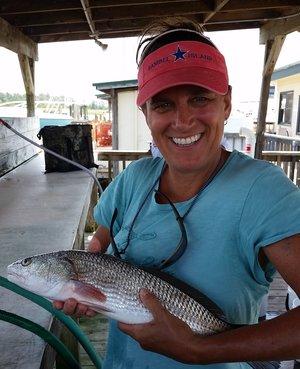 Kim fishing off the coast of South Carolina