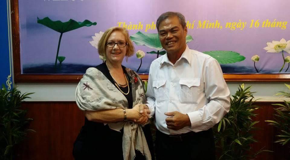 Susan and Vũ Ngọc Xiêm in Ho Chi Minh City, 2015