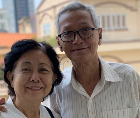 """During the Vietnam War, Tran Trong Duc and Nguyên Thi Dao were teachers at a boarding school for """"children of war martyrs."""" They taught and cared for hundreds of Vietnamese orphans, some as young as six years old. Over the years they became so close to the children that they remained in touch with many students well after the war ended. Today we met Duc and Dao, along with seven of the students from the school, in the 2 Sides Project meeting in Saigon. They have an unbreakable bond that has seen them through loss, and love. Duc and Dao met at the school and later married, as did 90 couples who were students."""