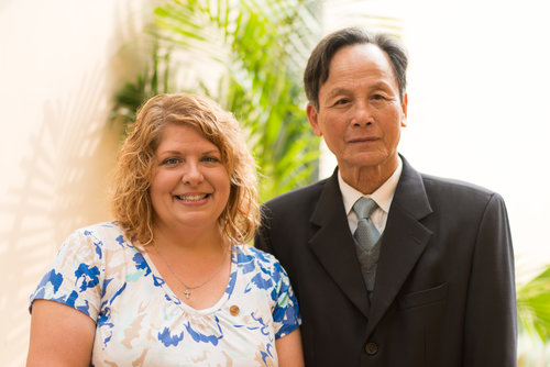 Patty Young Loew and Nguyen Liem. Patty's father, HM1 Jack Young (Navy), was killed in Da Nang on March 11, 1969. Mr. Liem's father fought on the North Vietnamese side and was killed in the early 1970s. Patty and Mr. Liem met in Hanoi. When Mr. Liem said his father distributed medical supplies, Patty nodded and smiled. Her father had been a medic during the war.