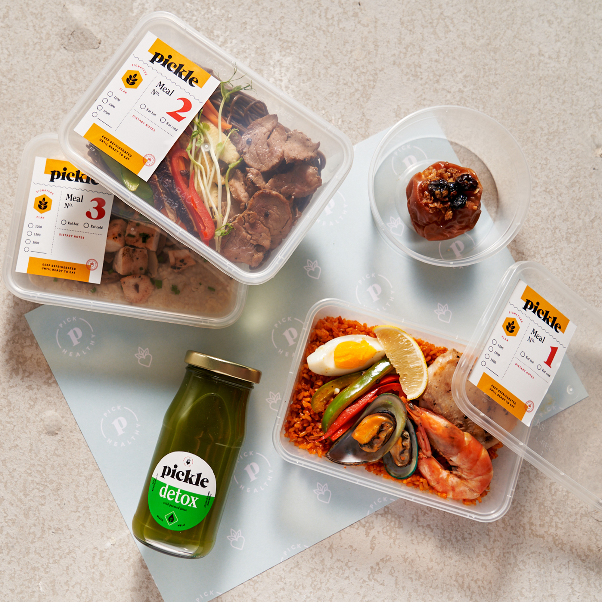 Sit back and relax - Just wait for your scheduled daily delivery and enjoy your meals!