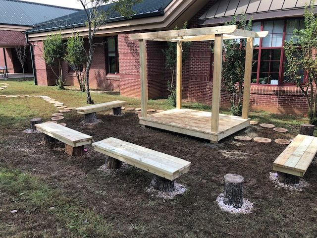 2018   Built an outdoor classroom at Christenberry Elementary School through the Lowe's Community Partner Grant.