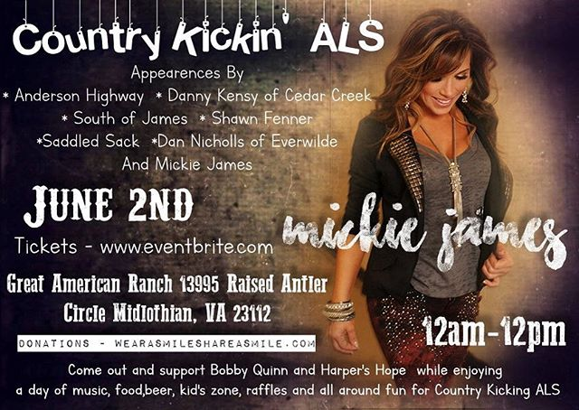 This Saturday June 2nd come join me and so many amazing local VA artist for an amazing Cause!!! #CountryKickingALS #ALS #countrymusic #concert #livemusic