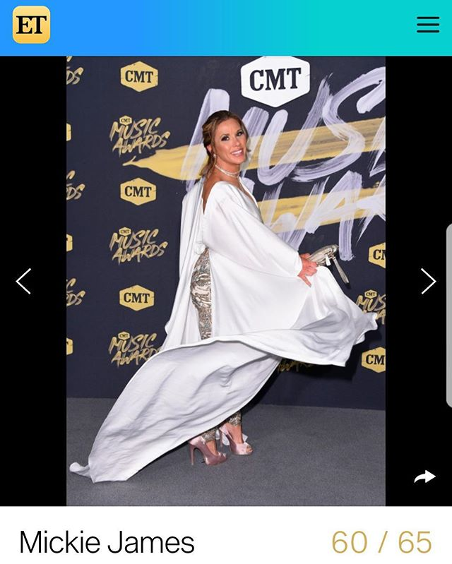 Thank you @entertainmenttonight for putting me on the #cmtawards #bestdressed list! Honored. Wearing the incomparable @johnathankayne & thank you @makeupbymelissakane for making me 🔥🔥🔥 #redcarpet #strongwomen #glam #sequins #pantssuit #dramatic #Sleeves #fashion #fashionstyle #styleoftheday #getthelook #makeup #hairstyles