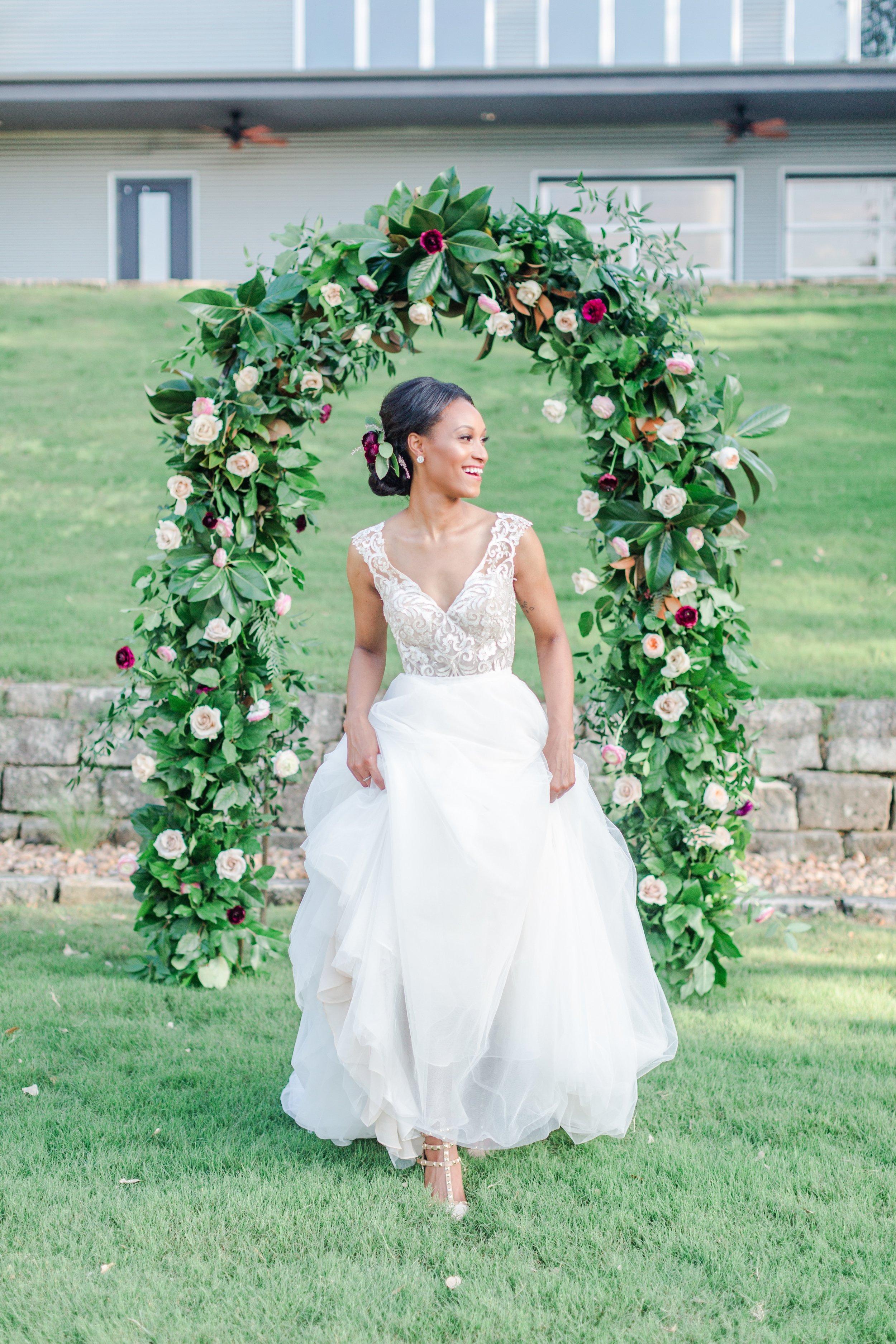 Austin Bride Flower Arch Floral Altar