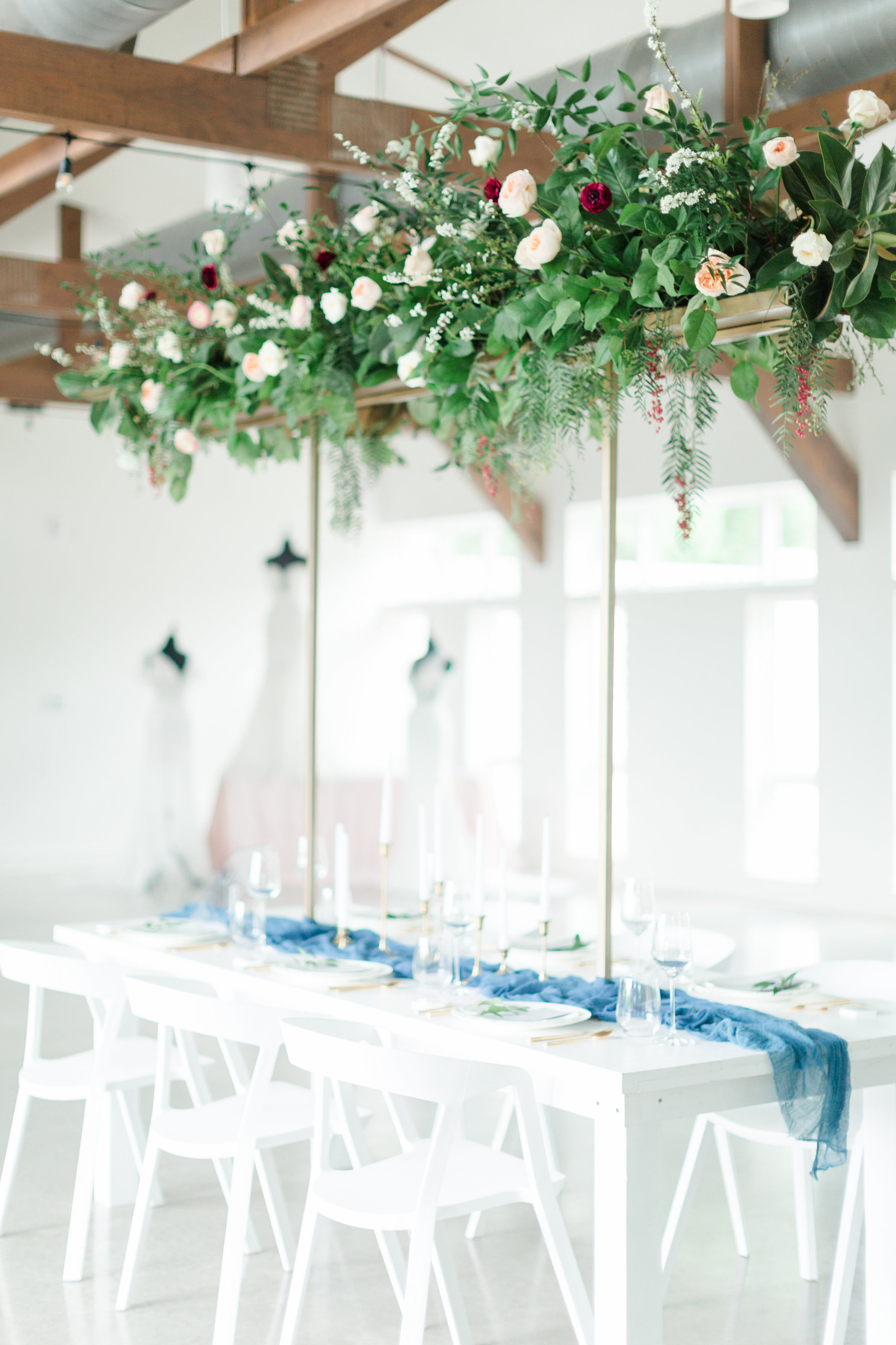 Austin Wedding Tall Flower Centerpiece Arrangement