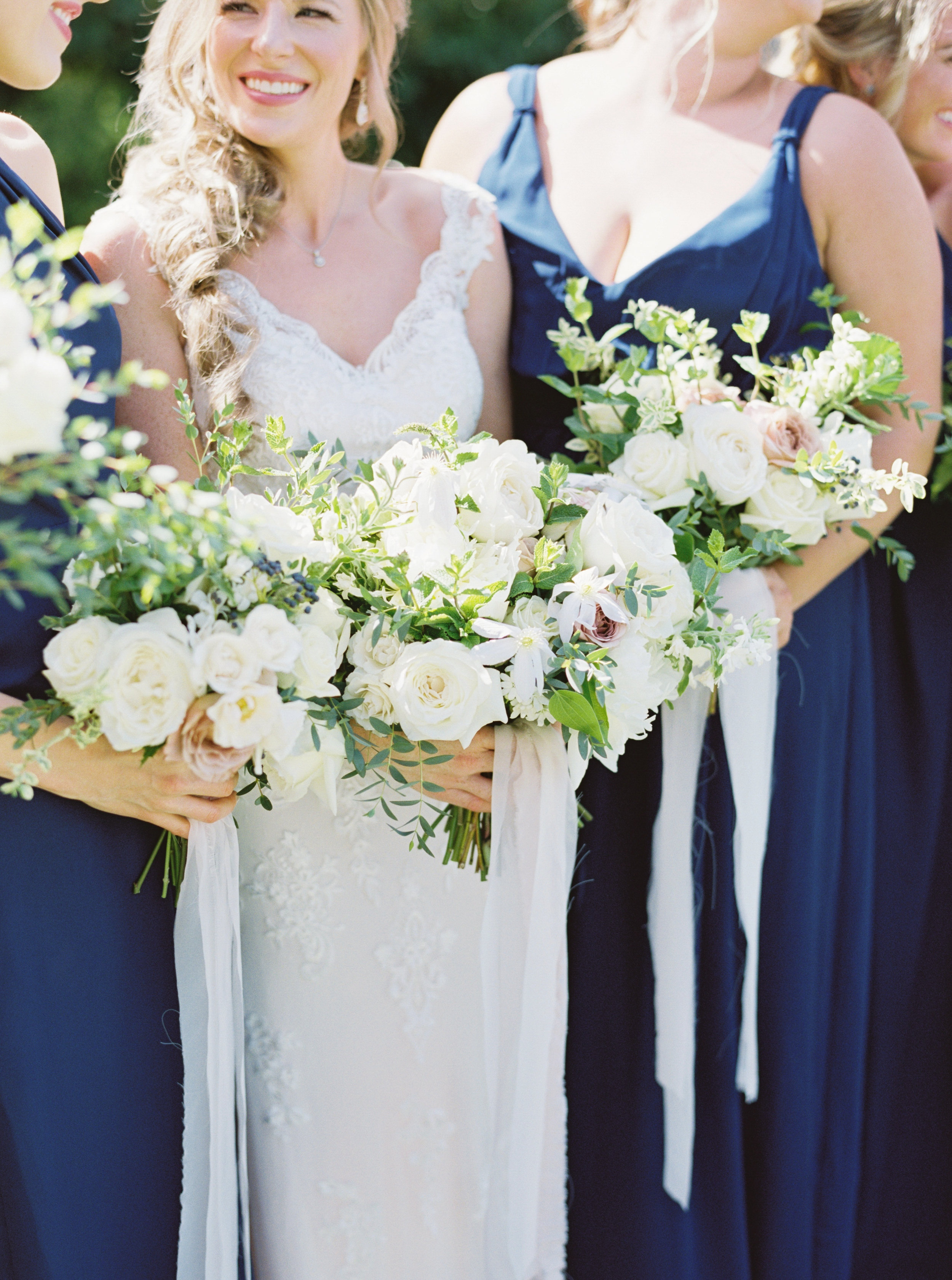 Austin Wedding Bride with Bouquet