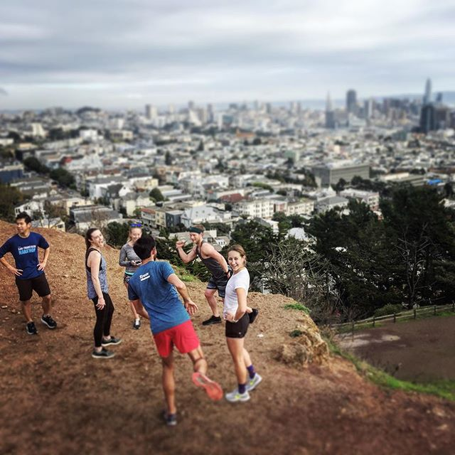 Oh hey @tieri_training... as the boys do God knows what.  The views stay on point though. #RunWaySF #CoronaHeights #letyourmindrunfree #runners #trailrun #werunSF #CaliLove #climb