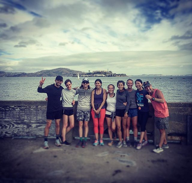 Rockin' the bay with this stellar crew on an epic Saturday Shakeout run from lots of summer miles!  Be stoked for October, because something epic is returning for the spookiest month of the year!  #RunWaySF #werunSF #letyourmindrunfree #lululemonSF #AquaticPark #shakeoutrun #gametime #runcrew