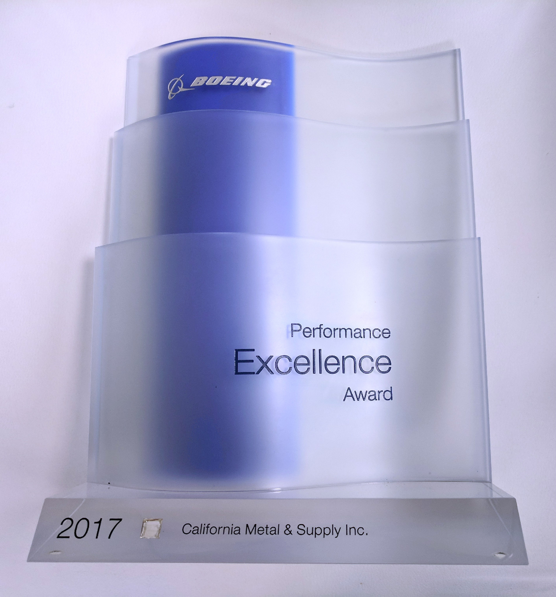 2017 Boeing Performance Excellence Award