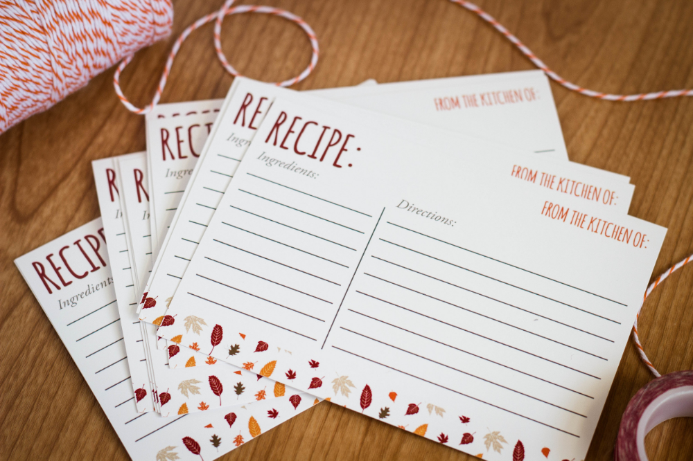 Fall Recipe Cards by MKKM