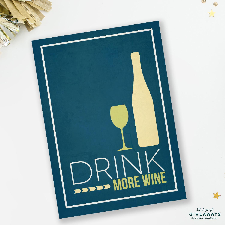 Wine Print by MKKM