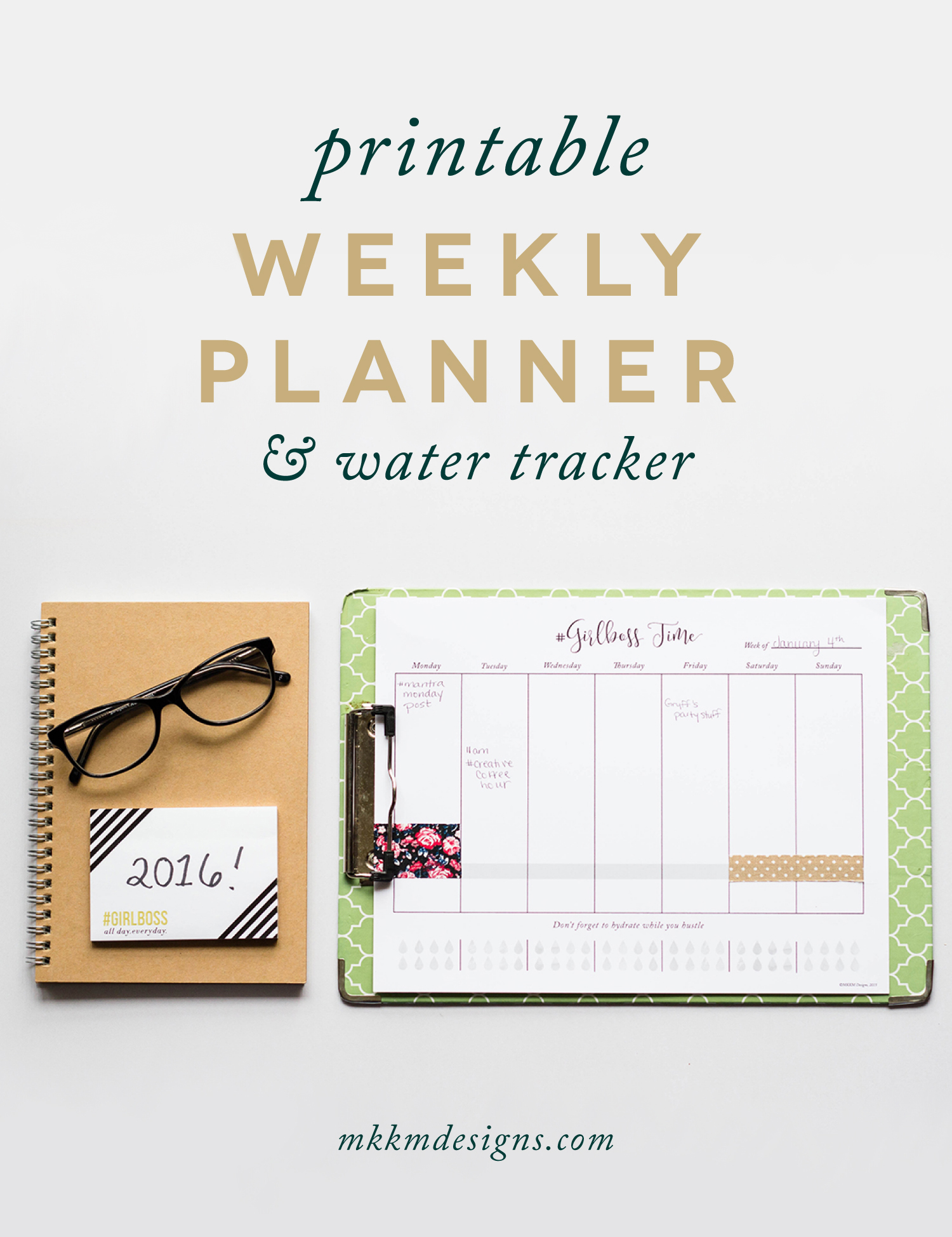 Printable Weekly Planner by MKKM