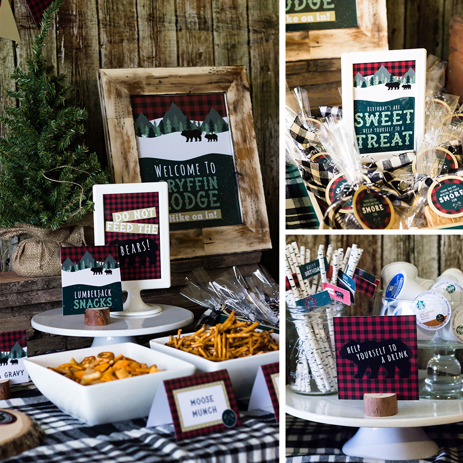 Lumberjack party signs | MKKM Designs