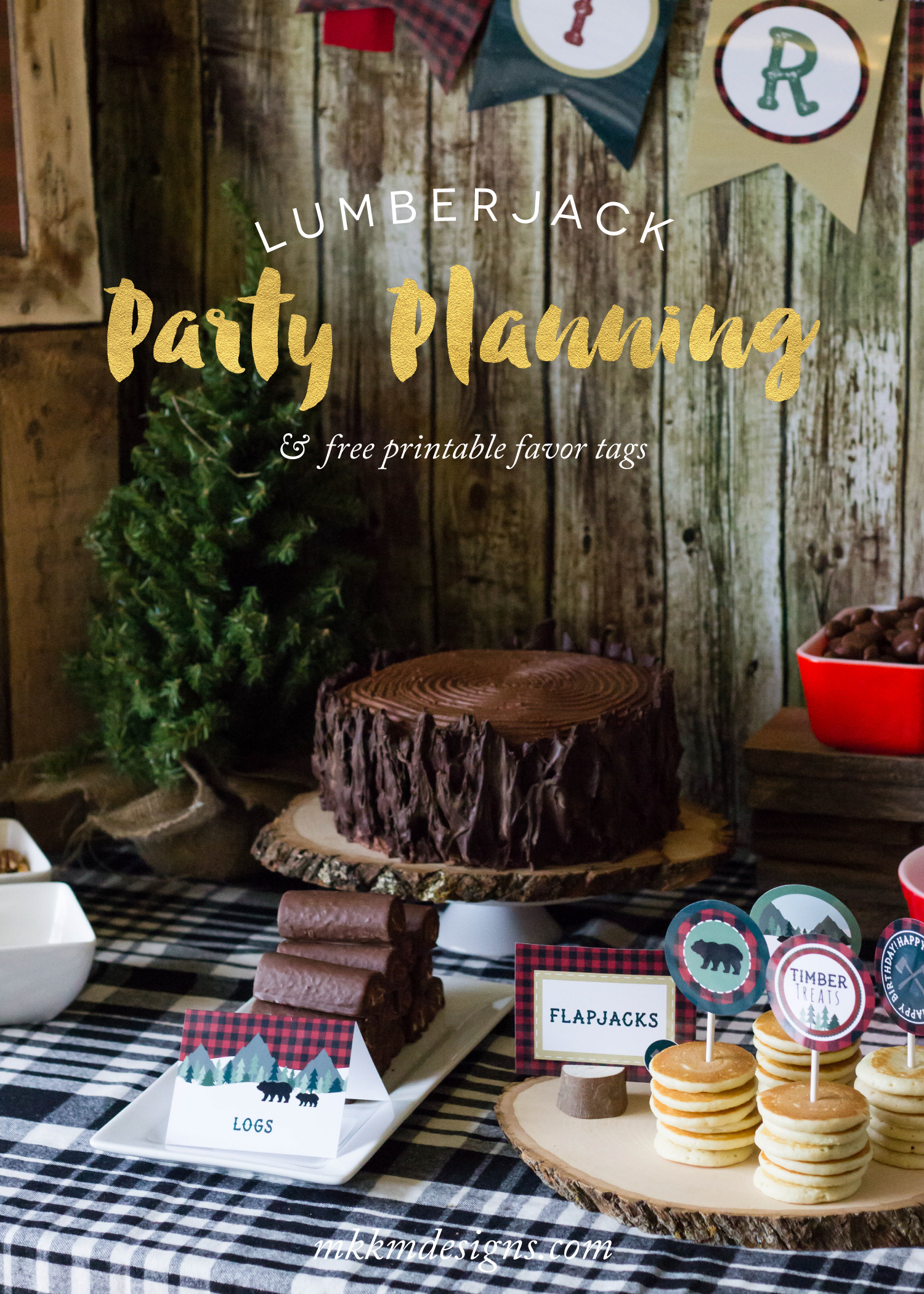 Lumberjack Party Ideas & Free Printable Favor Tags | MKKM Designs