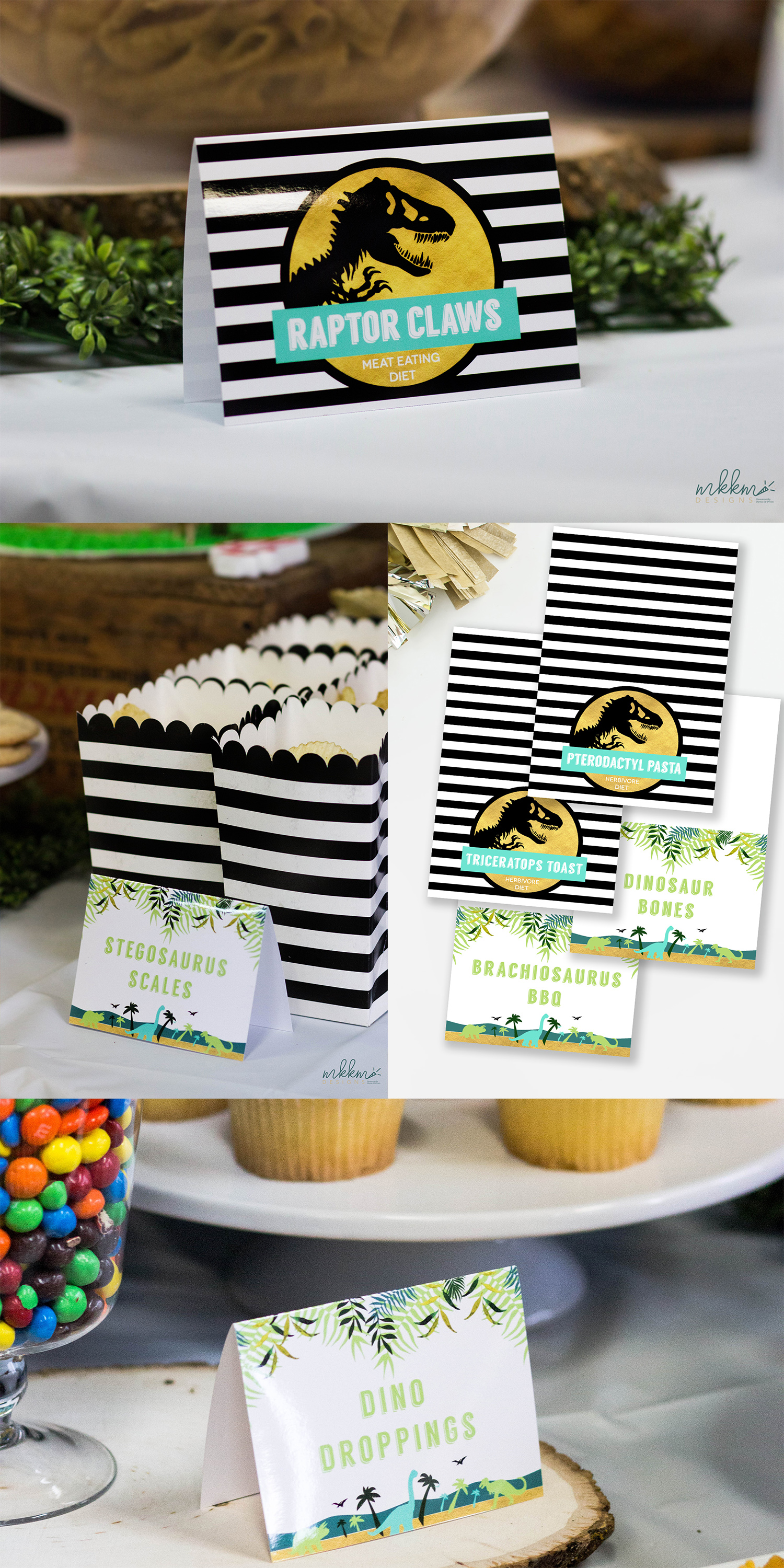 Dinosuar Party Food Ideas by MKKM Designs
