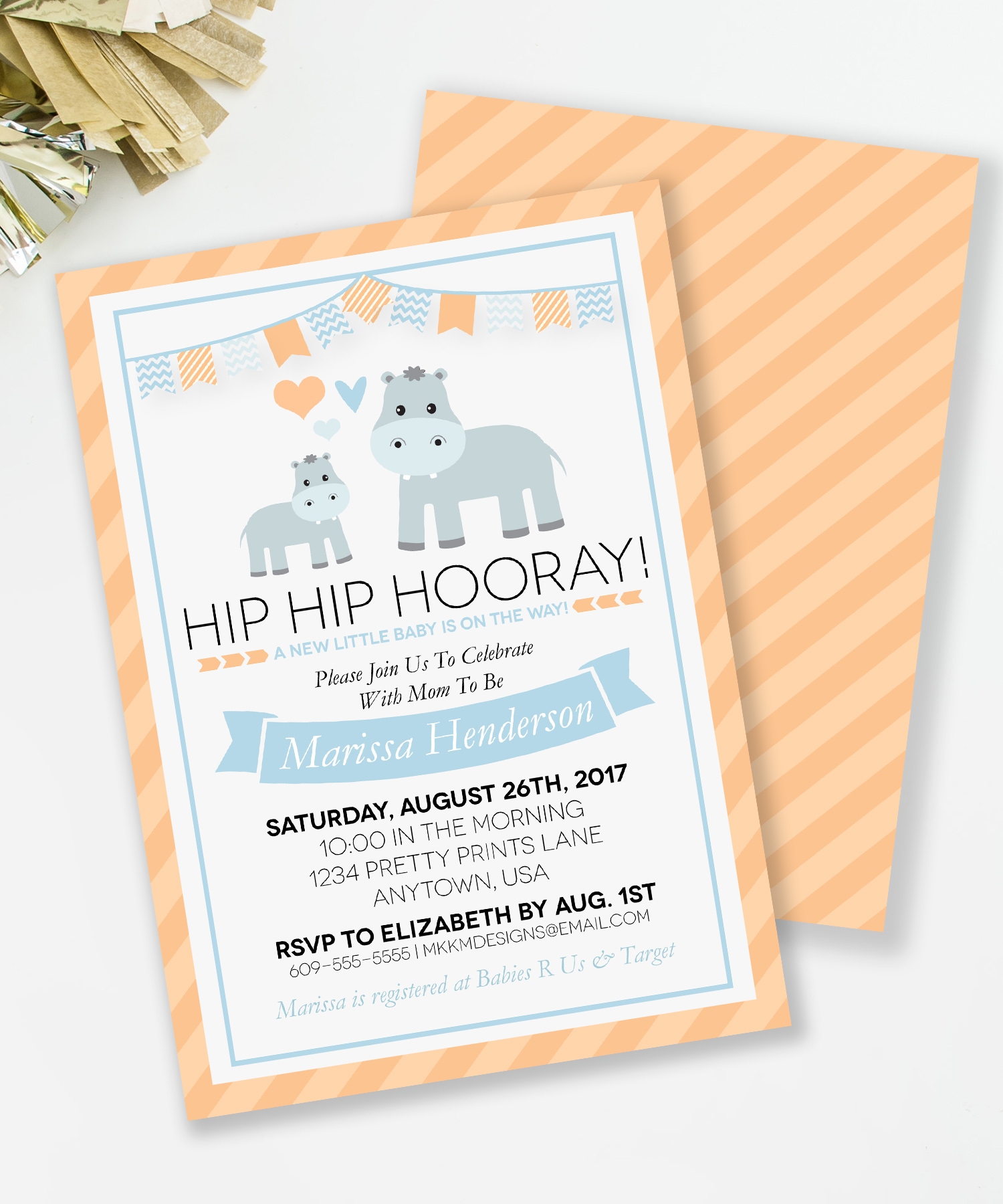 Hippo Baby Shower