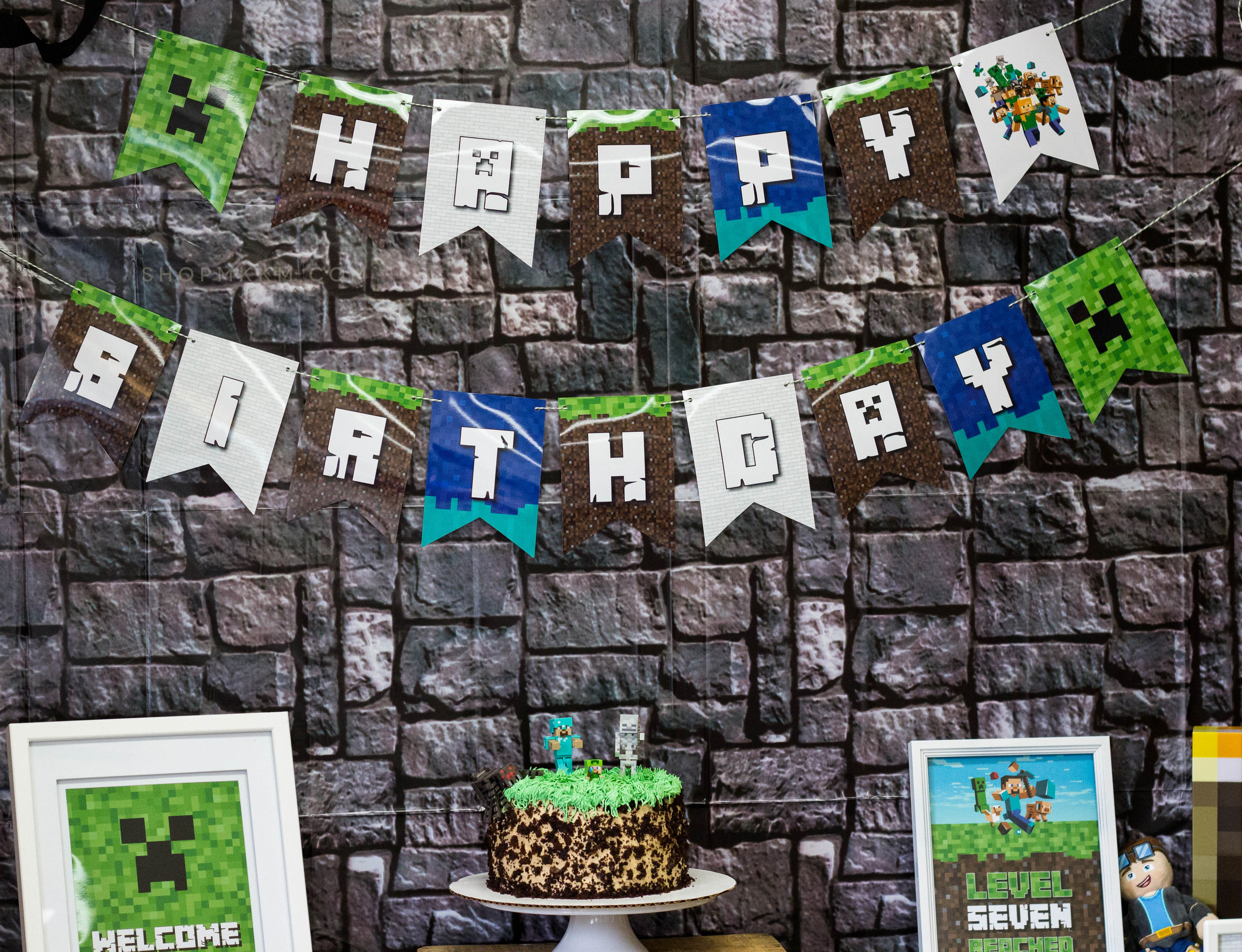 Minecraft Party Decor by MKKM Designs