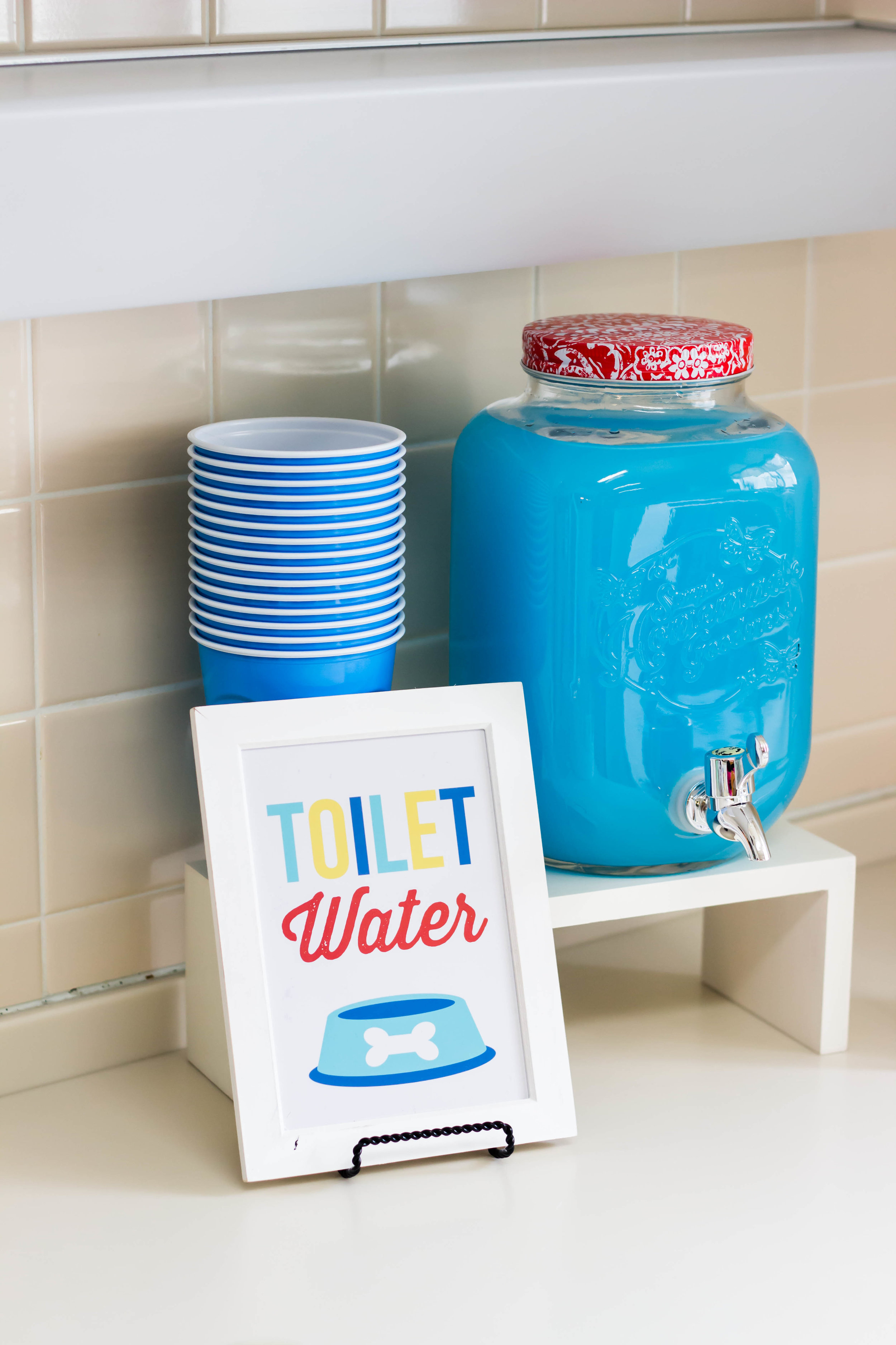 Toilet water sign from a puppy party // mkkmdesigns