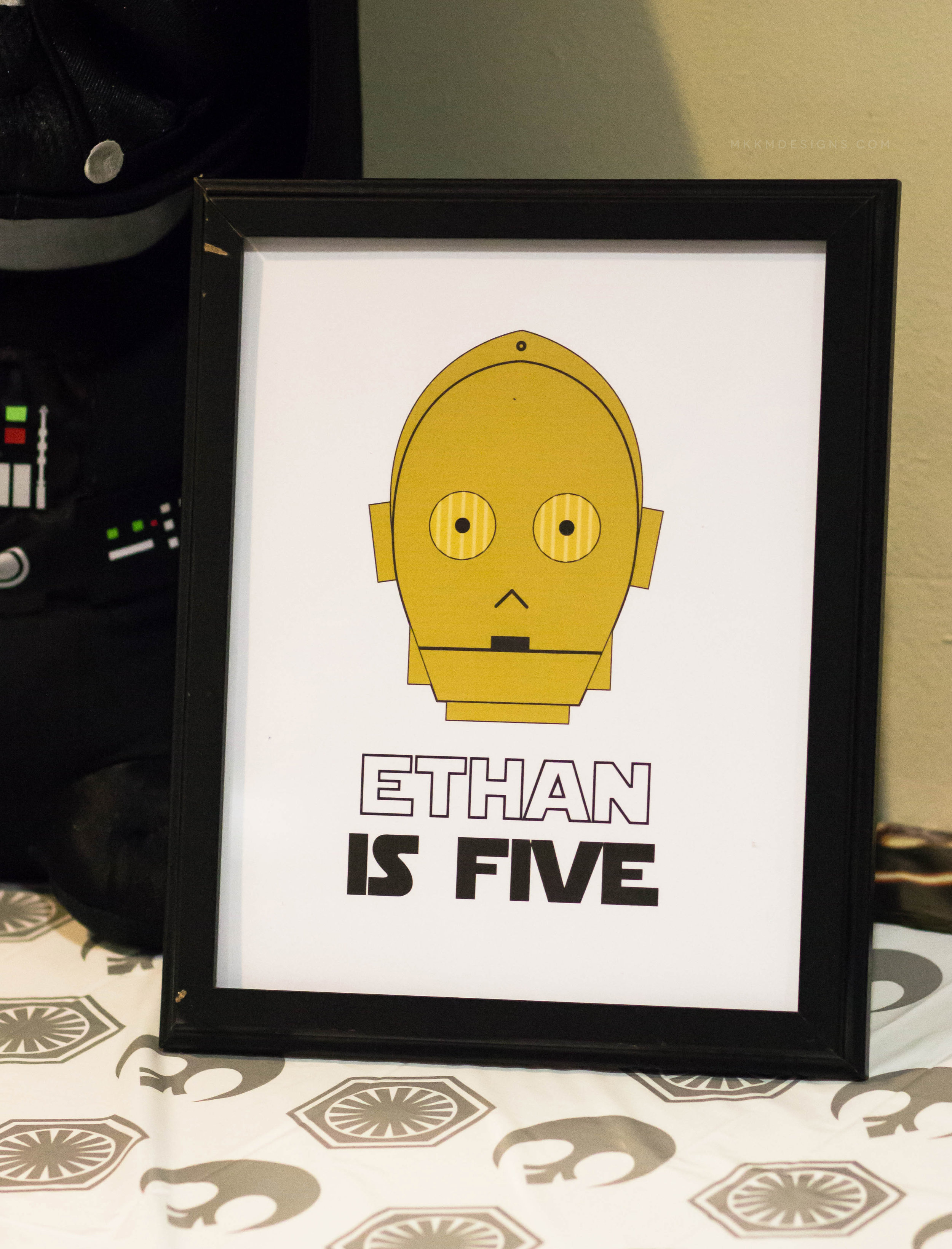 Custom Star Wars Birthday Sign. C3PO Birthday Sign. Party Printables by MKKM Designs