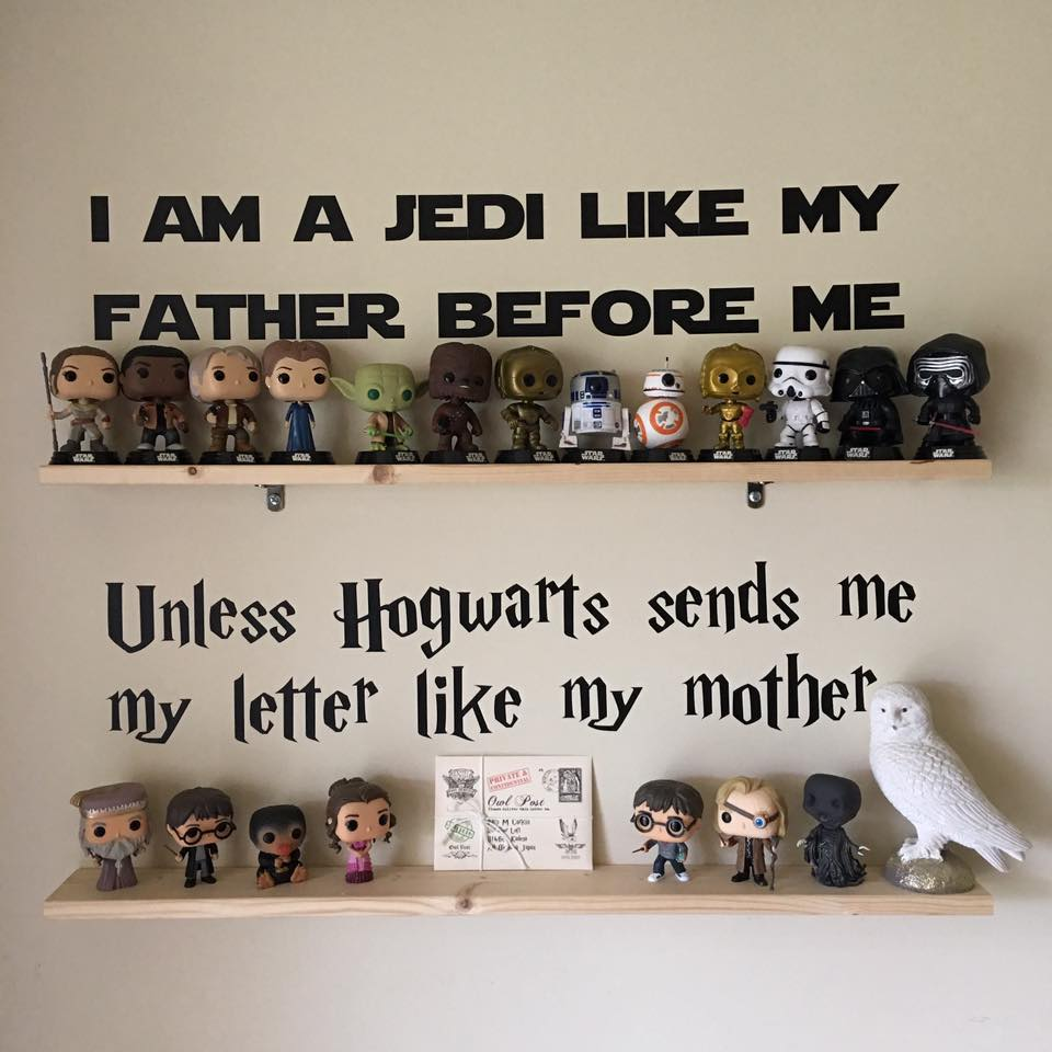 I am a jedi and hogwarts wall decal from @melissakay_15