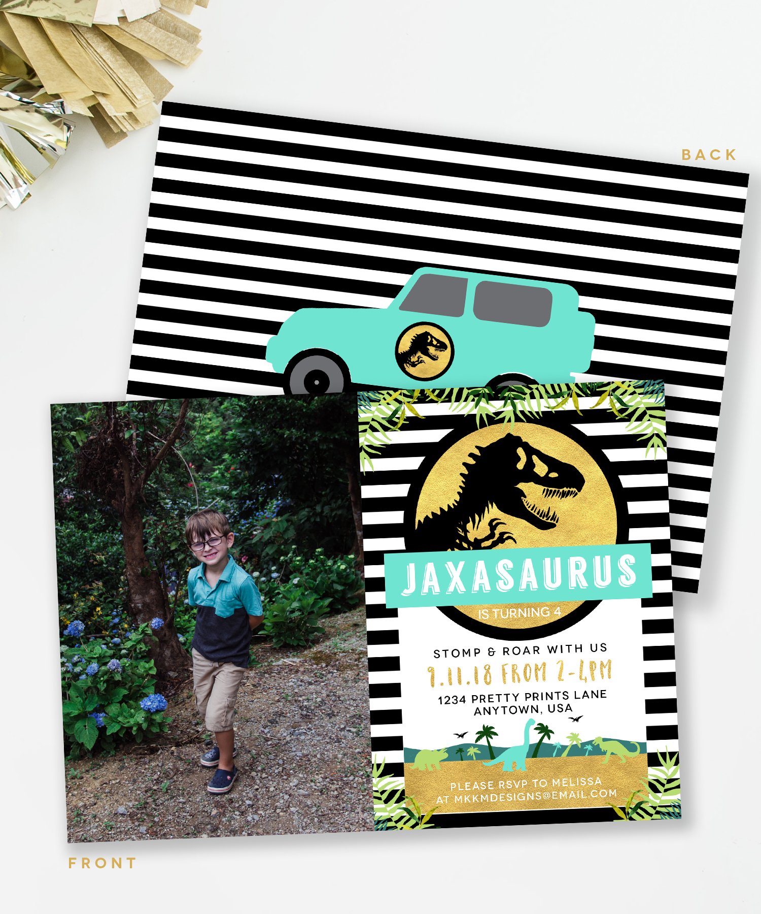 Jurassic Park Dino Invitation by MKKM Designs