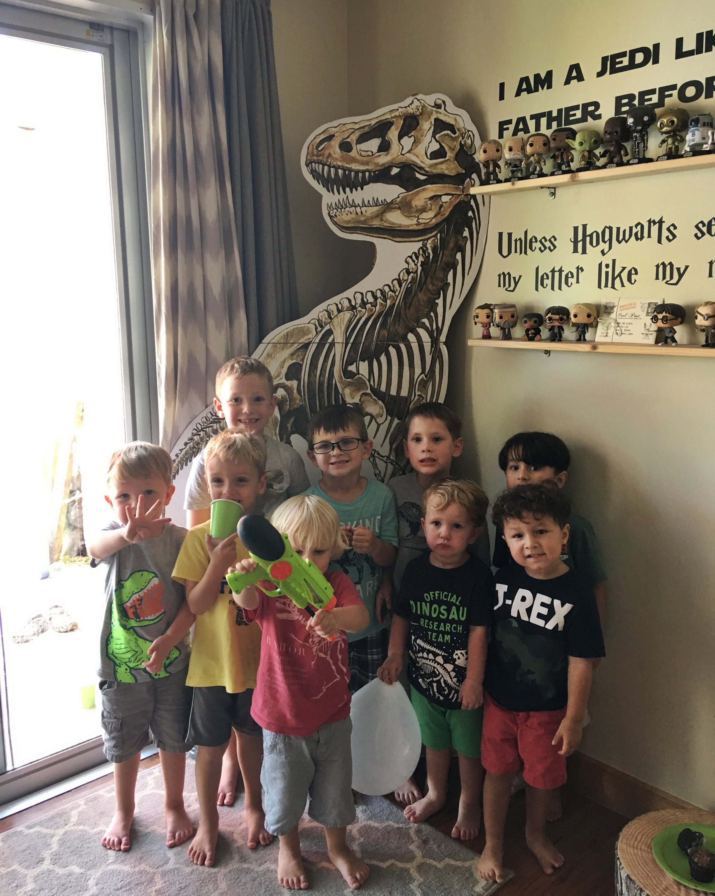 T-Rex cutout is always a hit for our dinosaur parties.