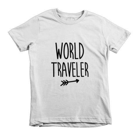 World Traveler kids shirt from The Rosie Project Apparel