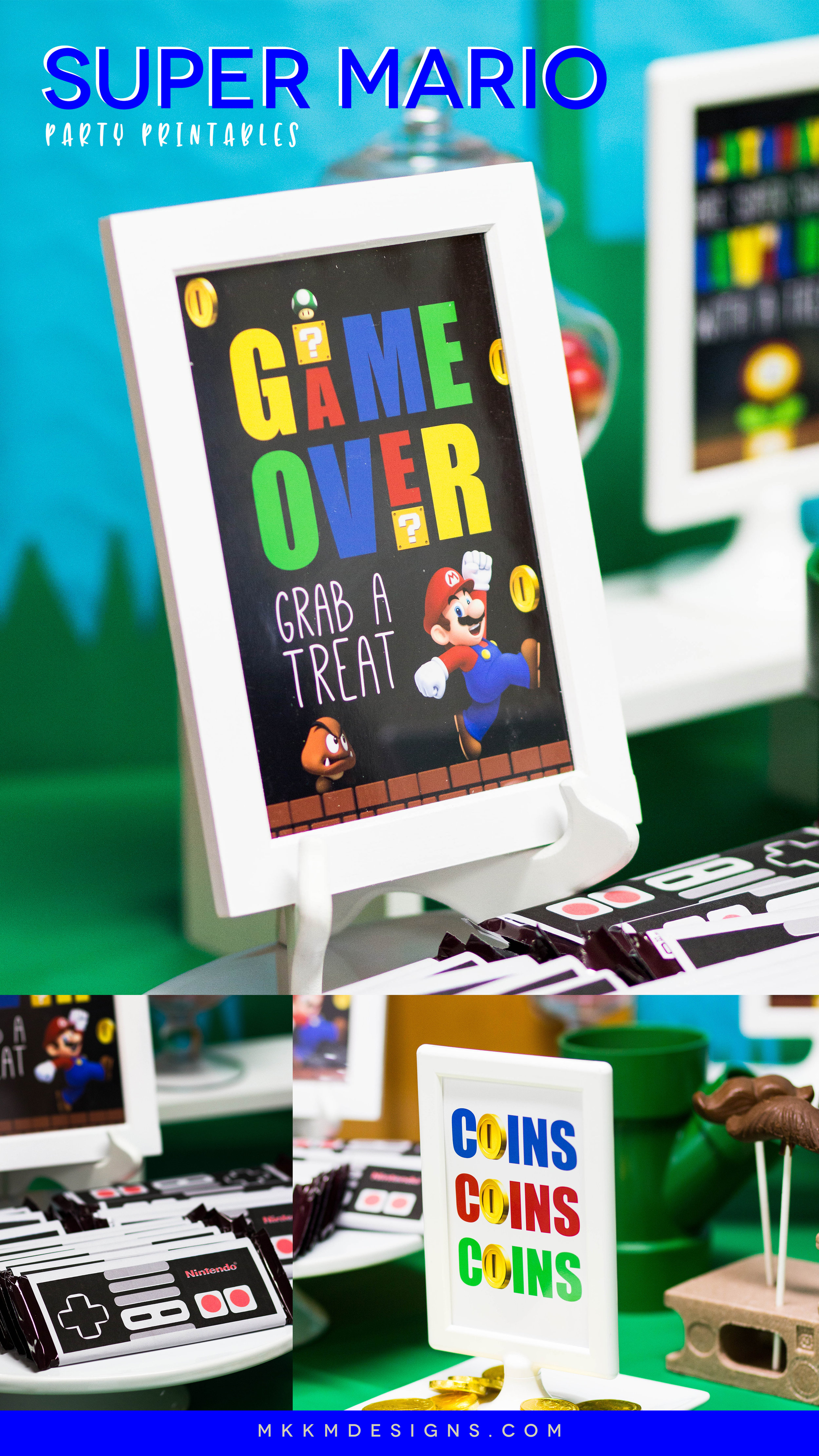 Super Mario Party Printables from mkkmdesigns. Free printable party signs and more on the shopmkkm blog.