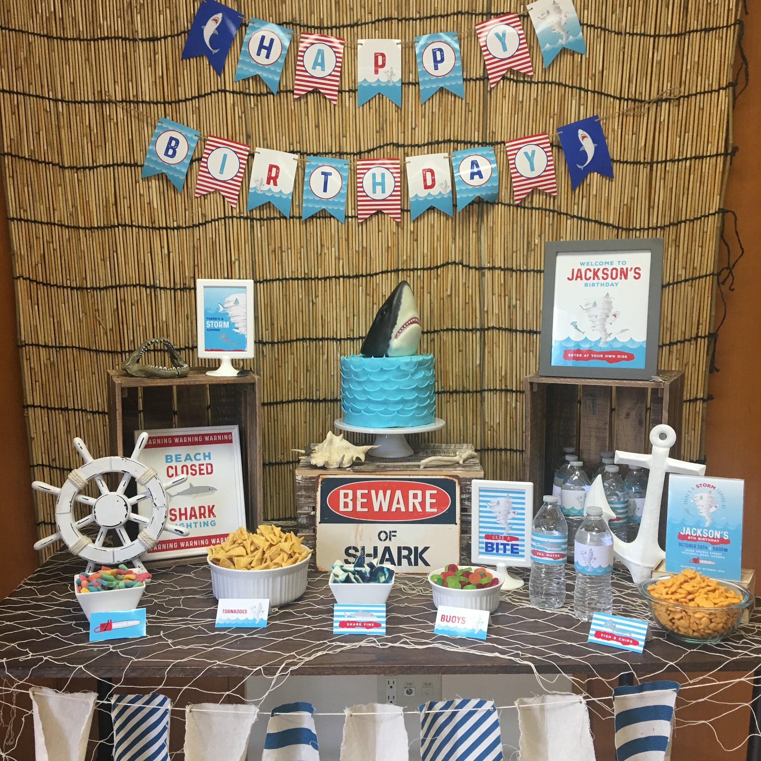 Sharknado Birthday Party theme designed by MKKM Designs