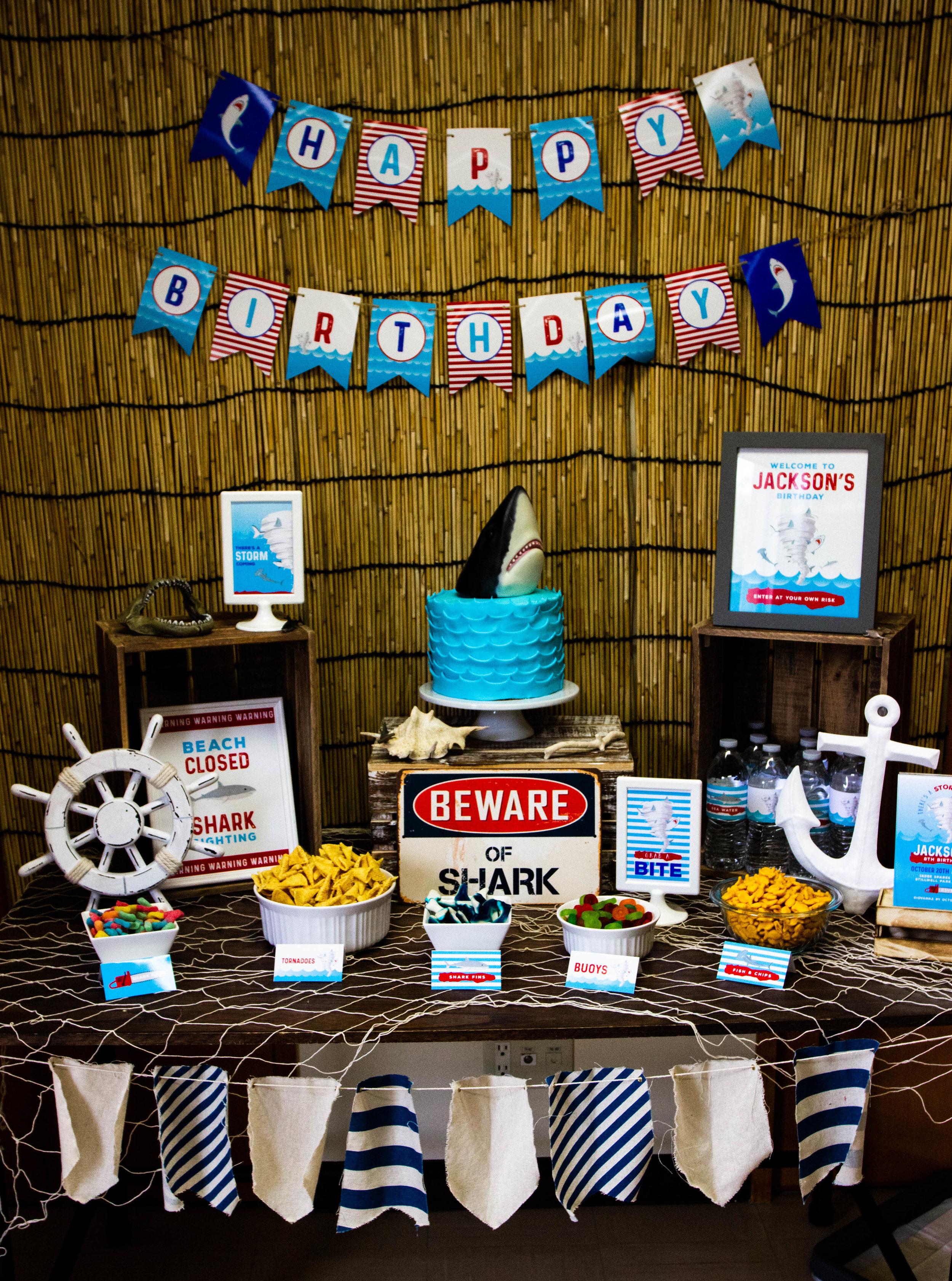 Sharknado Birthday Party theme - Boy Birthday Party Ideas // mkkm designs