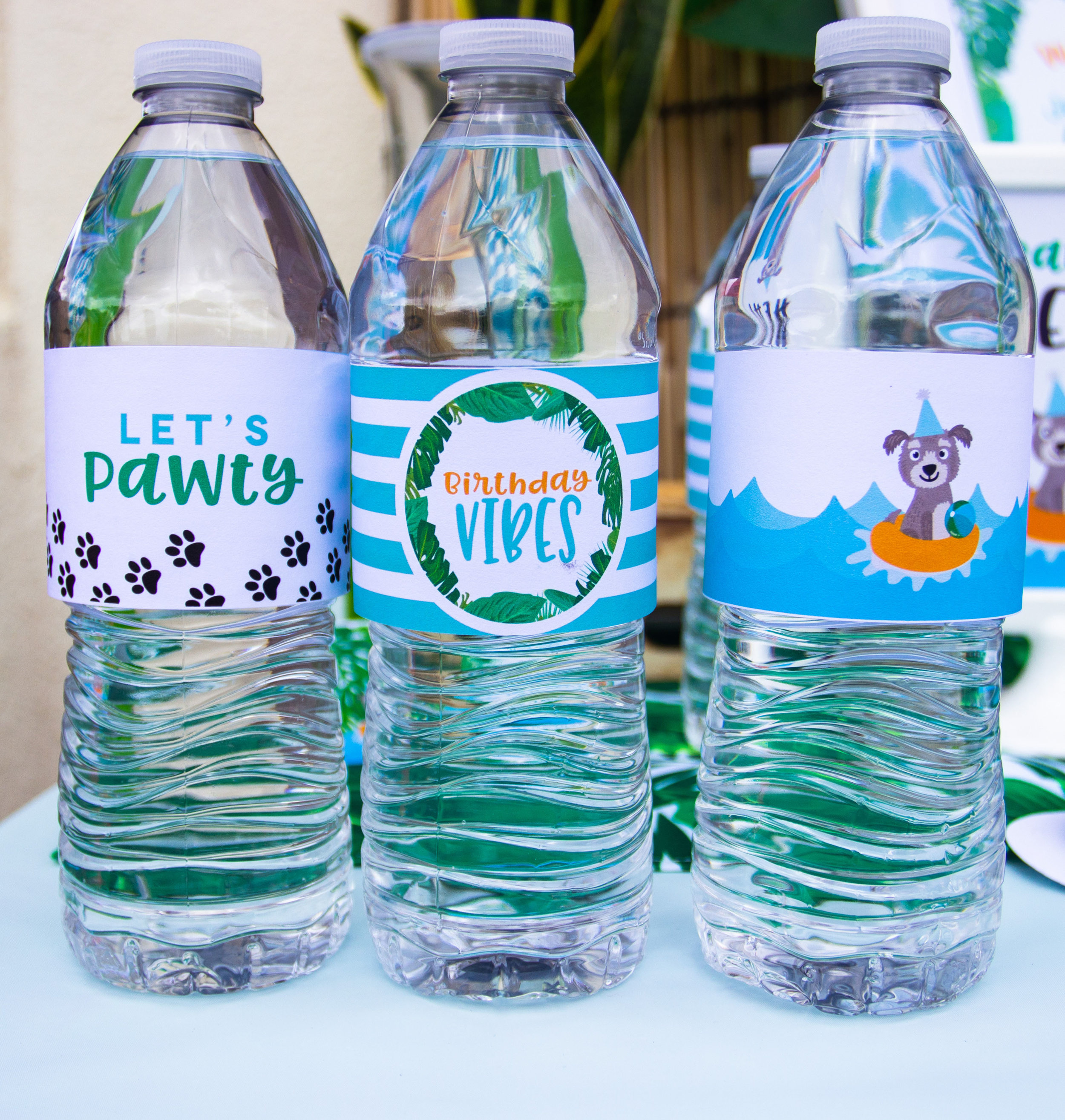 Free Water Bottle Wrapper printables from MKKM Designs