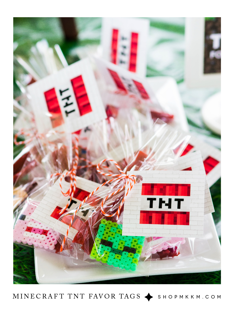 TNT Favor Tags free download by MKKM Designs, Minecraft Party Printables, Boy Birthday Ideas