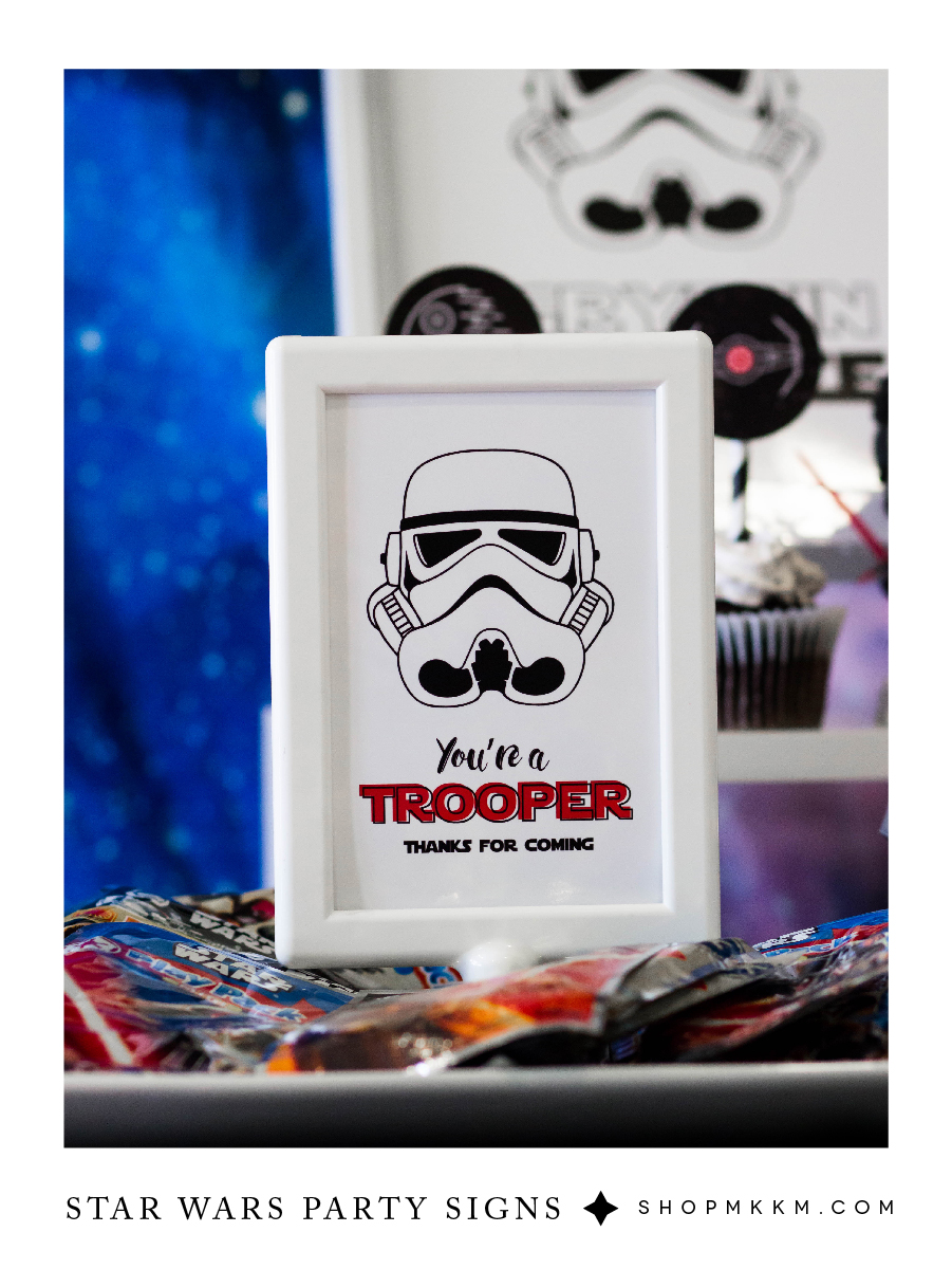 Star Wars party decor free printables from shopmkkm.com